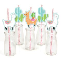 Straw Decorations, Easy Party Decorations, Birthday Party Decorations, Party Themes, Ideas Party, Party Fiesta, Llama Birthday, 10th Birthday, Baby Birthday