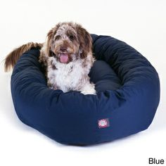 Luxurious Bagel Style Donut Plush Pet Dog Bed