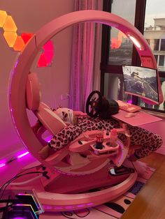Every OTAKU would be obsessed with this insane pink gaming setup workstation - ingrem new computer workstation coding pod And what's your gaming setup look like? Room Design Bedroom, Girl Bedroom Designs, Room Ideas Bedroom, Men Bedroom, Computer Gaming Room, Gaming Room Setup, Computer Workstation, Cool Gaming Setups, Best Gaming Setup