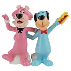 Huckleberry Hound & Snagglepuss -  Salt and Pepper Shakers