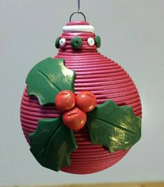 Check out this item in my Etsy shop https://www.etsy.com/listing/209081890/holly-berries-ornament