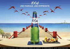 """""""Une marque, une empreinte"""" - Kronenbourg 1664 (bière)   Agence : Herezie, France (mars 2016)"""