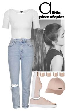 """Silence."" by dreamingandliving ❤ liked on Polyvore featuring Topshop, Axel Arigato, Maison Margiela and Billabong"