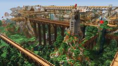 "Minecraft -  here's ""Dockland,"" similarly impressive http://www.pcgamesn.com/minecraft/10-best-minecraft-adventure-maps"