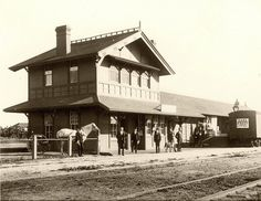 Train Depot, Whittier, 1896