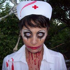 DIY creative and scary halloween make-up, thanks Deon :)