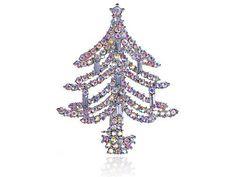 Dazzling Crystal Rhinestone Christmas Tree Holiday Fashion Jewelry Pin Brooch Alilang. $16.99