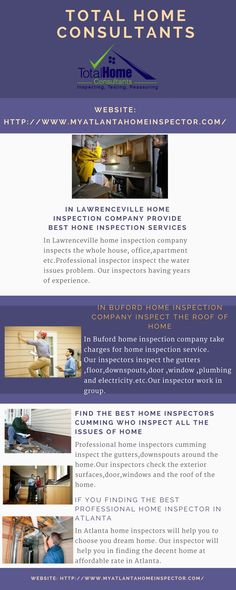 Find the best home inspectors cumming who inspect all the issues of home   Professional home inspectors cumming inspect the gutters,downspouts around the home.Our inspectors check the exterior surfaces,door,windows and the roof of the home. #BestHomeInspectorsCumming