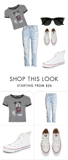 """""""casual#1"""" by alexandrakeh on Polyvore featuring beauty, Topshop, H&M, Converse and Ray-Ban"""