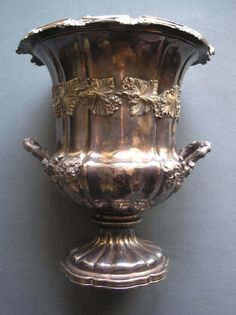 Antique silver-plated wine cooler | eBay
