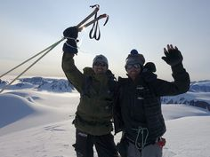 Borge Ousland and Vincent Colliard, Alpina Watches ambassadors, during their crossing of the Svalbard glacier for the Alpina Ice Legacy Project. Share and raise awareness for the protection of our glaciers. www.icelegacy.com Alpina Watches, Legacy Projects, Ice, Ice Cream