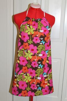 Cool and easy halter dress sewing project!