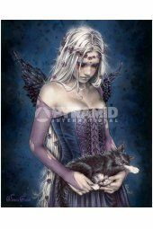 Victoria Frances - Angel Of Death ~ Wall Poster - Fantasy Women Art Prints and Posters - Magical Pictures Sad Fairy, Fairy Art, Evil Fairy, Gothic Angel, Gothic Fairy, Angel Of Death, Anne Stokes, Luis Royo, France Art