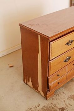 A Very Cool Easy Pictorial On Fixing Up Returning An Old Dresser Back To Beautiful, Usable, Glory...