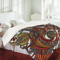 Valentina Ramos Paradise Bird Duvet Cover. Super beautiful
