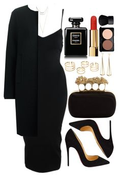 A fashion look from October 2016 featuring short dresses, jil sander navy coat and heels stilettos. Browse and shop related looks. Classy Outfits, Chic Outfits, Dress Outfits, Fashion Outfits, Pretty Outfits, Womens Fashion, Outing Outfit, Professional Outfits, Work Attire