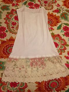 Ivory Lace Shirt Extender by KowgirlLace on Etsy