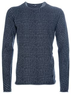 EMPORIO ARMANI - checked sweater by farfetch