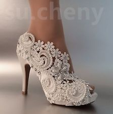 "3"" 4"" heel satin white iv..."