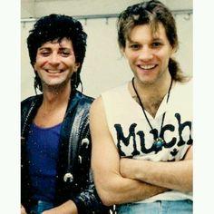 Jon Bon Jovi and Alec Jon Such #bonjovi ♡♡♡