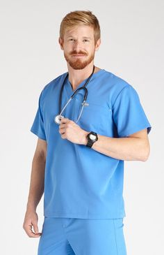 With a go-to scrub top like the men's Naga from FIGS, you're always good to go. Part of FIGS' Premium Standards collection of relaxed-fit scrubs. 2XL top