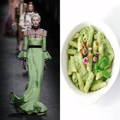 """Adda's All – Fashion Food inspiruar nga Gucci FW 2016 – Makarona """"penne"""" me pesto të gjallë mashurkash"""