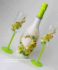 Красивая свадьба Шампанское Королевская свадьба от JewelryBouquet