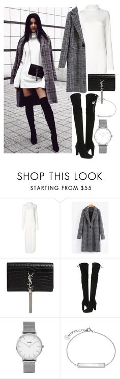 """""""instagram: florencia95"""" by florencia95 ❤ liked on Polyvore featuring Lost & Found, Yves Saint Laurent, Stuart Weitzman, Topshop and CLUSE"""