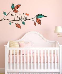 Look what I found on #zulily! Beautiful Branch Personalized Wall Decal Set #zulilyfinds