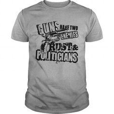 Awesome Tee  A Gun's 2 Enemies   Best Gift Shirt T-Shirts