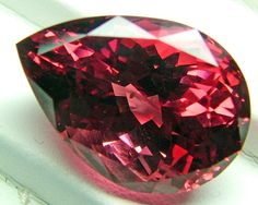 RUBY RED VVS SPINEL 17.5 CTS Minerals And Gemstones, Crystals Minerals, Gemstone Jewelry, Gold Jewelry, Soul Connection, Gem Stones, Ruby Red, Pear Shaped, Crystal Healing