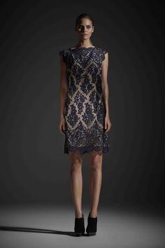 R14 TARYN SHIFT DRESS NAVY