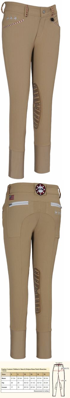 Jodhpurs and Breeches 72599: Equine Couture Childrens Stars And Stripes Riding Breeches, Sz 14, Safari Nwt -> BUY IT NOW ONLY: $49.95 on eBay!
