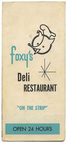 Foxy's Deli Restaurant Menu