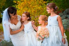 A sweet Moment with the Girls! Wedding Photography by Carrington Creative Photography