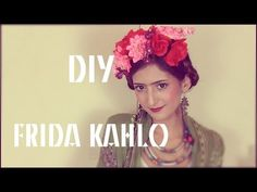 Never thought I'd get this  lesson in French, but helpful! }Halloween : DIY FRIDA KAHLO (hair, make-up and costume)