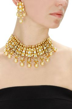 Gold plated crystal choker set available only at Pernia's Pop-Up Shop