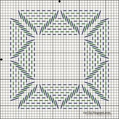 swedish weave pattern Good pattern for a coaster Cross Stitch Embroidery, Embroidery Patterns, Hand Embroidery, Cross Stitch Patterns, Loom Patterns, Weaving Designs, Weaving Projects, Needlepoint Stitches, Needlework