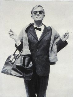 Truman Capote   with his famous bag