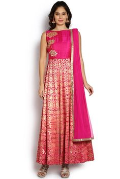 Soch Raw Silk Anarkali Suit - SYNA CD 14005