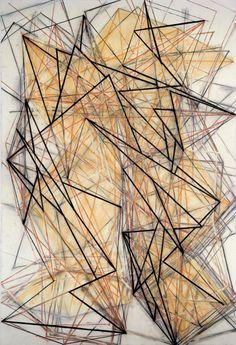 """1.4 Mel Bochner, """"Vertigo,"""" 1982, charcoal, conte crayon, and pastel on canvas."""