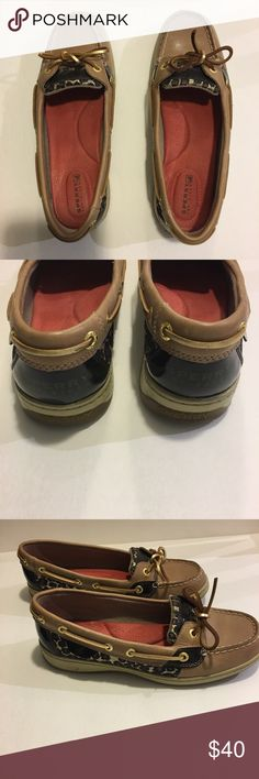 Sperry Firefish Leopard Boat Shoes Sz 7M Ladies Ladies size 7M boat shoes.  Hardly worn, practically new. Sperry Shoes