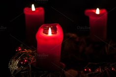 Red Christmas candles by ChristianThür Photography on Creative Market Christmas Candles, Red Christmas, Christmas Decorations, Bokeh Lights, Marketing Ideas, Media Marketing, Creative, Photography, Social Media