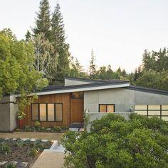 wood exterior mod house
