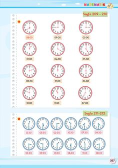2. Sınıf Soru Bankası Matematik Süper Kitap Telling Time, Book Activities, Worksheets, Math, Books, Mathematics, Livros, Libros, Book