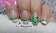 Frog Nails , Uñas decoradas con ranitas Video: http://youtu.be/WCgoJoALKXU - DecoAndCrafts.com