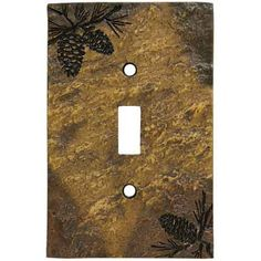 Single Switch Plate Cover, Pine Cone - Kolorful Kitchen
