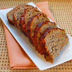 Turkey Pesto Meatloaf Recipe with Tomato Sauce; this recipe is loaded with flavor from the pesto! [from Kalyn's Kitchen] #SBDPhase2