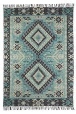 Ellos Home Madison-matto 140x200 cm Turkoosi - Puuvilla- ja räsymatot | Ellos Mobile