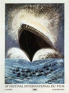 1982  ⎟  Affiche du 35e Festival de Cannes. D'après l'oeuvre originale de Federico Fellini.